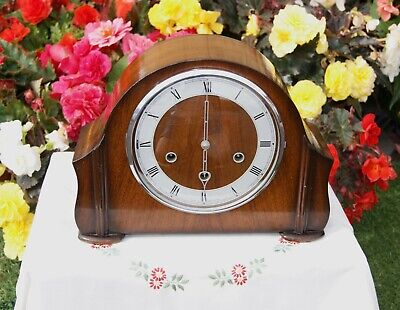 Smiths Antique Art Deco Westminster Chime Mantel Clock, 1952. Outstanding!