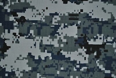 Gray Digital 100% Cotton Drill Army Military Camouflage Fabric.