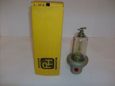 "Parker Hannifin Pneumatic Air Oiler Lubricator 3/8"" Ports Model # LN1037 UNUSED"