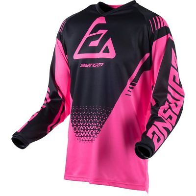 NEW Answer Mx 2019 Syncron Drift Flo Pink/Black Womens Motocross Jersey