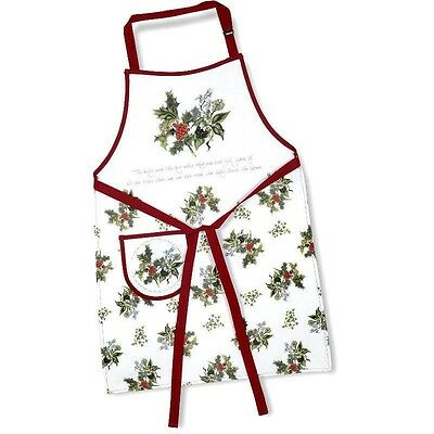 Portmeirion The Holly and Ivy Apron NEW Sealed - Pimpernel FREE UK POST