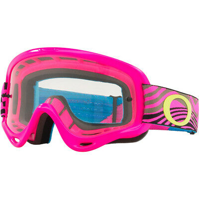 1461a7e286 NEW Oakley MX XS O-Frame Wind Tunnel Pink Clear Motocross Dirt Bike Race  Goggles