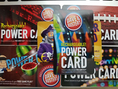 Dave & Busters Power Card - 122 chips, $20 value, unused, reloadable, free ship