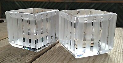 Wedgwood MODERN GRAPHIC Crystal Wide Stripe Votive Candle Holders by VERA WANG