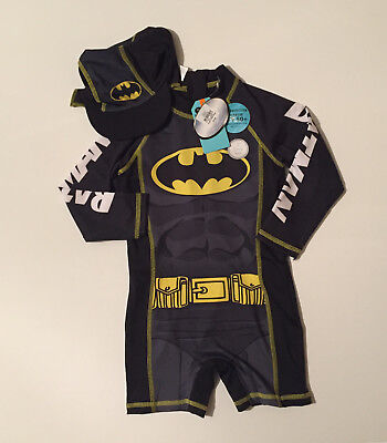 Primark Baby Boys Batman Swimsuit And Hat 18-24 Months