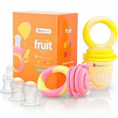 NatureBond Baby Food Soother Fruit Dummie Pacifier (2 Pack)  Infant Teething Toy
