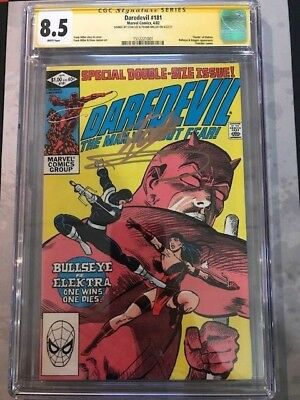 Daredevil # 181 Cgc 8.5  Ss  Stan Lee, Frank Miller  Death Of Elektra