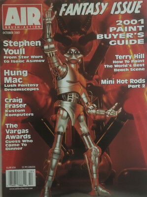 Air Brush Action Magazine Oct 2001 Fantasy Issue Paint Back-Issue Collectible