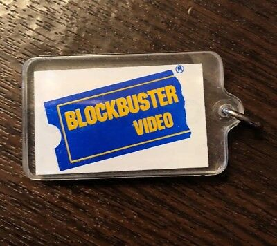 Blockbuster Video Chicago Cubs Collectible Clear Plastic Keychain Key Ring New