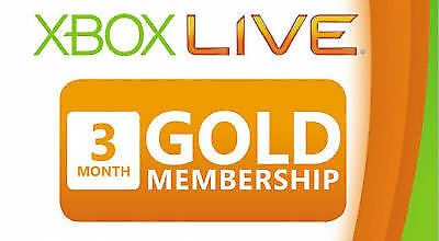 Xbox Live Gold 3 Month Membership Microsoft Subscription Fast Email Xboxlive