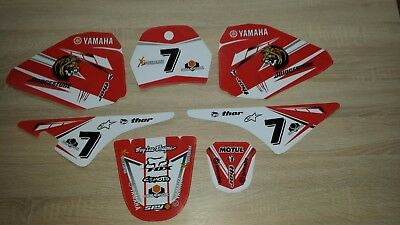 Yamaha Pw 80 Graphics Decals Sticker Pw80 Red