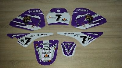 Yamaha pw80 decals graphics stickers Full kit purple pw 80