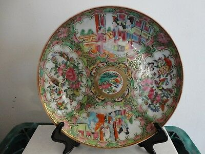 19Th C Chinese Porcelain Canton Famille Rose Plate