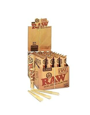 RAW® 12 Packs Of 6 = 72 Pcs Classic Medium 1 1/4 Pre Rolled Cones Rolling Paper