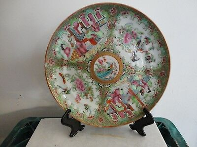 19Th C Chinese Canton Famile Rose Dish/Plate