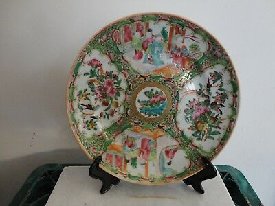 Late 19Th C Chinese Canton Famile Rose Plate