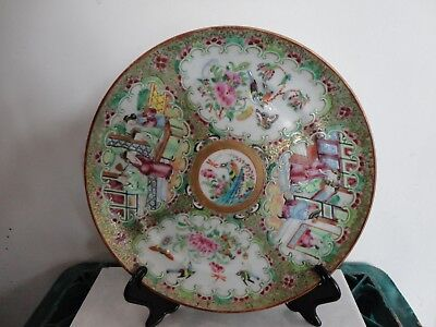 Antique 19Th C Chinese Canton Famile Rose Plate