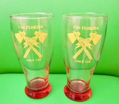 USS Florida(SSGN-728)Ohio Class Cruise Missile Submarine Commemorative Glasses.