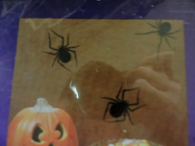 Black Spiders 15 Paper Silhouette Cut-Out Halloween Party Decor ! L@@k