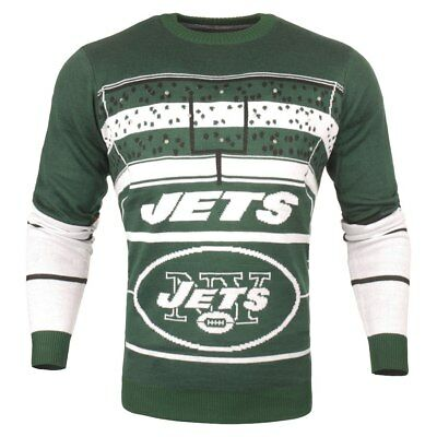 FOREVER COLLECTIBLES NFL Men s New York Jets Hanukkah Ugly Crew Neck ... 99289b195