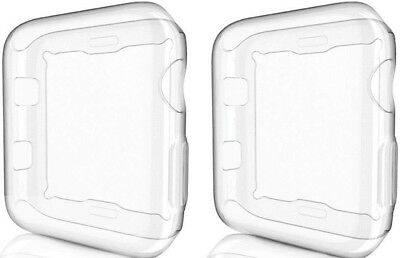 2 Apple iWatch Series 1 38mm Case Cover Protector TPU Flexible Clear Transparent