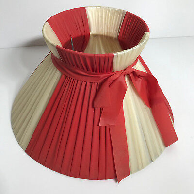 Original Barsony Black Lady Lamp Plastic Ribbon Lampshade Vg Vint Con Red!