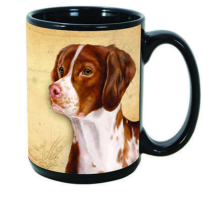 Brittany Faithful Friends Dog Breed 15oz Coffee Mug Cup