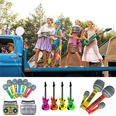 Inflatable Music Instruments Guitar Saxophone Microphone Blow Up Stage Props