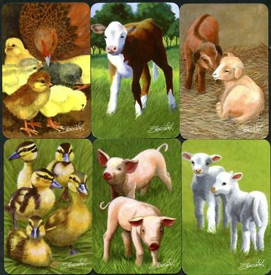 Swap Cards Spodooki 6 Beautiful Australian Farm Animals  Complete Collection New