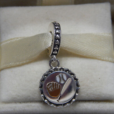 a34f75e6d New Authentic Pandora Charm Baseball Dangle ENG792018_17 W Tag & Suede Pouch
