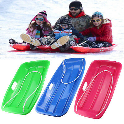 Winter Plastic Snow Sled Boat Shape Snow Sledge for Child Kid Adult Outdoor Pull