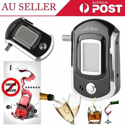 Portable Digital Alcohol Breathalyser Breath Tester Breathtester w/ LCD AU