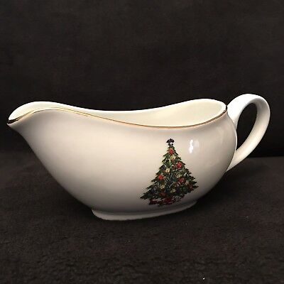 Sea Gull Christmas Tree Gravy Boat Server Fine China Collection Jian Shiang