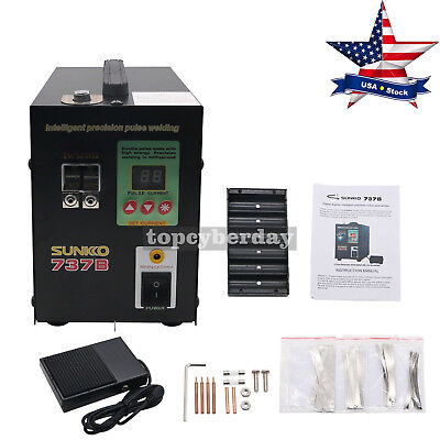 737B 1500W Battery Spot Welding Machine LED Light 110V for 18650 Battery Pack US