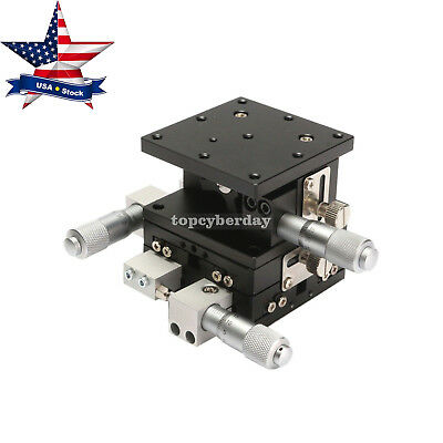 XYZ 3Axis Linear Stage Trimming Platform Bearing Tuning Sliding Table 60x60 #US