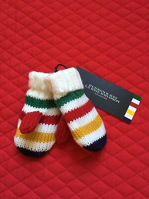 Canadian Hudson's Bay Mittens Mitts Baby Infant 12 - 24 mths. HBC Stripes!