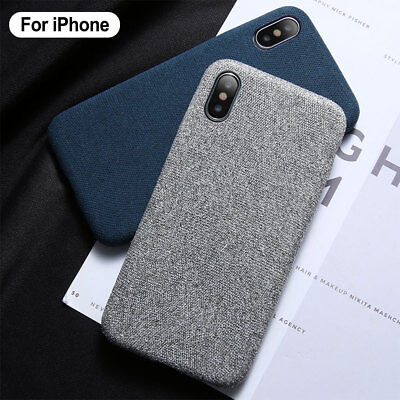 For iPhone XR XS Max 8 7 Soft Cloth Fabric Ultra-thin Slim Phone Case Back Cover
