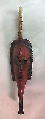 Authentic Red Guro Gu Bete Gye African Art Mask From Private Collection