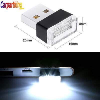 White USB Wireless Flexible Neon Ambient LED light For Car Interior Decoration