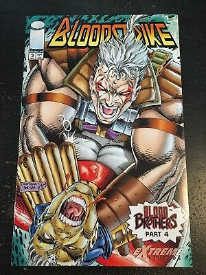 """Bloodstrike#3 Incredible Condition 9.4(1993)""""Blood Brothers"""" Fraga Art!"""