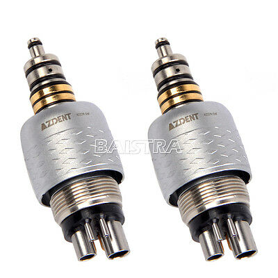 2PC Dental Quick Style Coupler Coupling 6Holes AZ229-GW Roto Fiber Handpiece