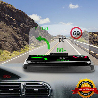 Car HUD Head Up Display Projector GPS Holder Phone Navigation Wireless Charger