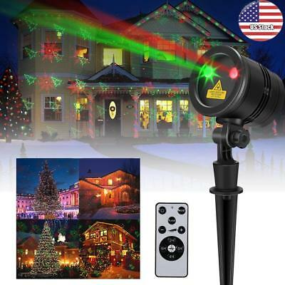 In/Outdoor Moving Christmas Landscape Lights Projector LED Spotlight Waterproof