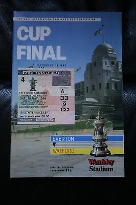 Everton v Watford 1984 FA Cup Final Programme and Ticket