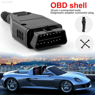8D2E Male Connector Diagnostic Cable 16 Pin OBDII Connector Plug Adapter Plug