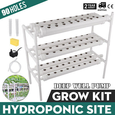 Hydroponic Grow Kit 90 Sites 10 Pipes Herbs Vegetable Tool Efficient WHOLESALE