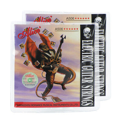 2 Sets Alice A506-SL Electric Guitar Strings .009-.042 Steel Nickel Alloy Wound
