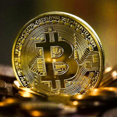 10Pcs Bitcoin Commemorative Collectors Coin Bit Coin is Gold Plated Coin Gold