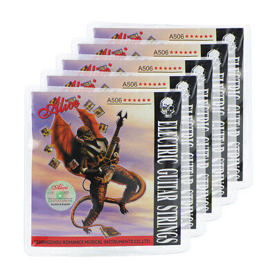 5 Sets Alice A506-SL Electric Guitar Strings Steel Nickel Alloy Wound .009-.042