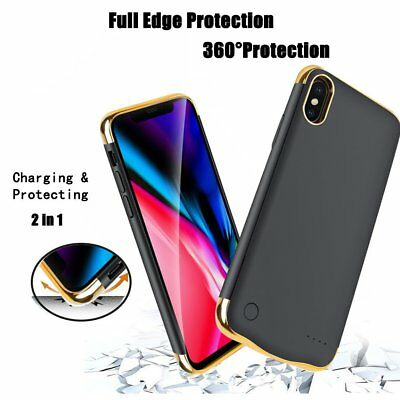 5500mAh External Battery Case Power Bank Pack Charging Cover For Apple iPhone X